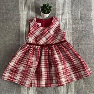 Bonnie Baby Kids Formal Red Plaid Dress